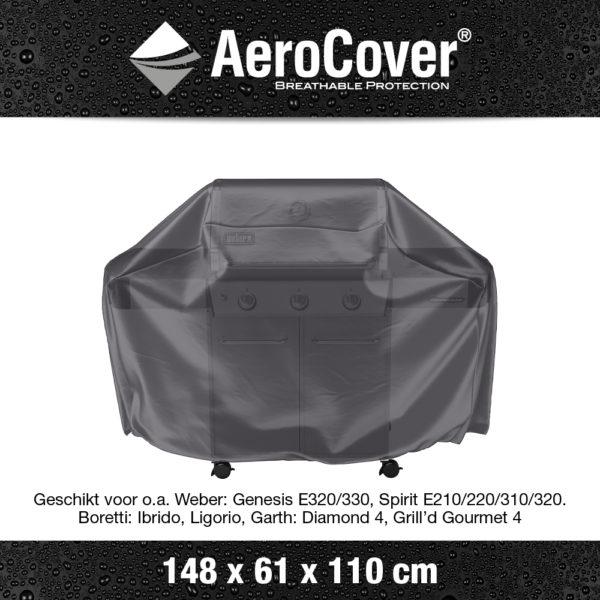 7854 BBQ hoes L buitenkeukenhoes AeroCover transparant 148x61x110 cm