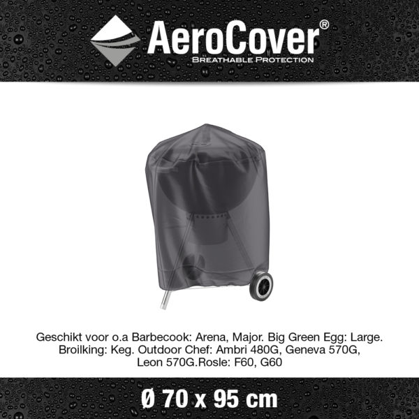 7874 BBQ hoes buitenkeukenhoes AeroCover transparant Ø70x95 cm