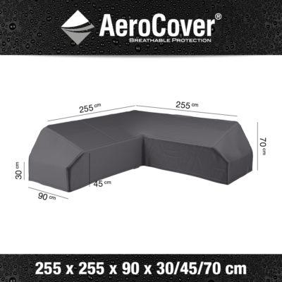7880 Loungesethoes platform hoekset AeroCover 255x255x90x30/45/70 cm