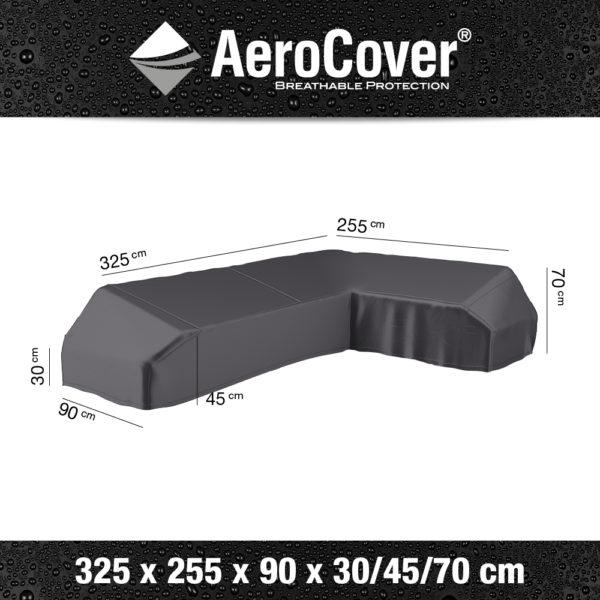 7883 Loungesethoes platform rechts AeroCover 325x255x90x30/45/70 cm