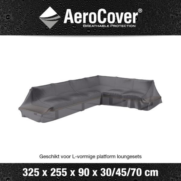 7883 Loungesethoes platform rechts AeroCover transparant 325x255x90x30/45/70 cm