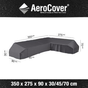 7885 Loungesethoes platform rechts AeroCover 350x275x90x30/45/70 cm
