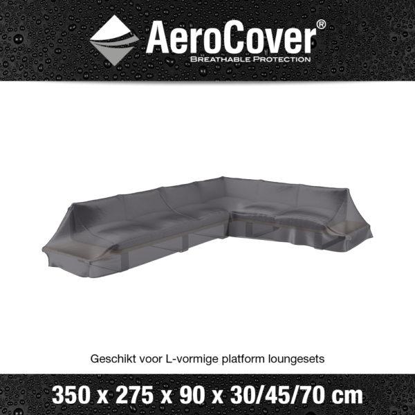 7885 Loungesethoes platform rechts AeroCover transparant 350x275x90x30/45/70 cm