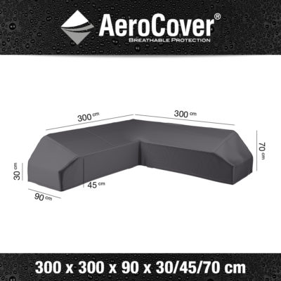 7886 Loungesethoes platform AeroCover 300x300x90x30/45/70 cm