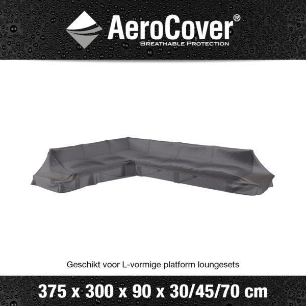 7887 Loungesethoes platform links AeroCover transparant 375x300x90x30/45/70 cm