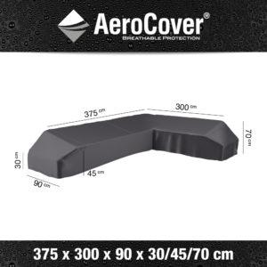7888 Loungesethoes platform rechts AeroCover 375x300x90x30/45/70 cm