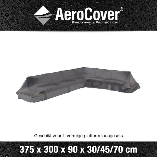 7888 Loungesethoes platform rechts AeroCover transparant 375x300x90x30/45/70 cm