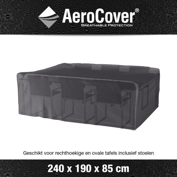 7916 Tuinsethoes AeroCover transparant 240x190x85 cm