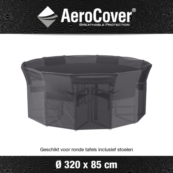 7917 Tuinsethoes AeroCover transparant Ø320 cm