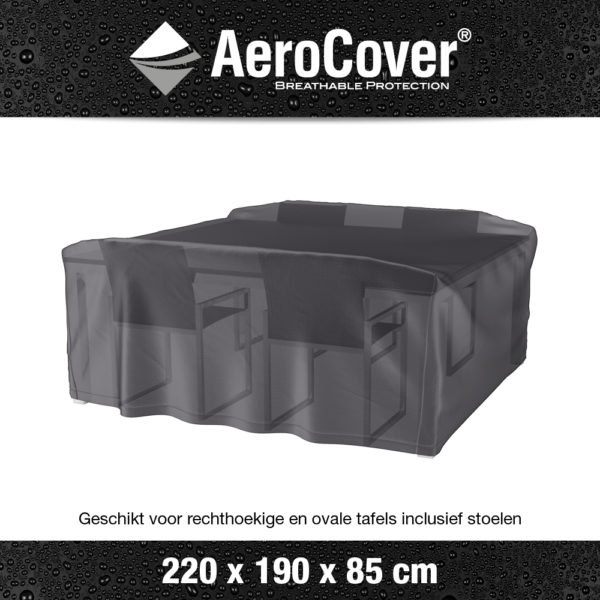 7921 Tuinsethoes AeroCover transparant 220x190x85 cm