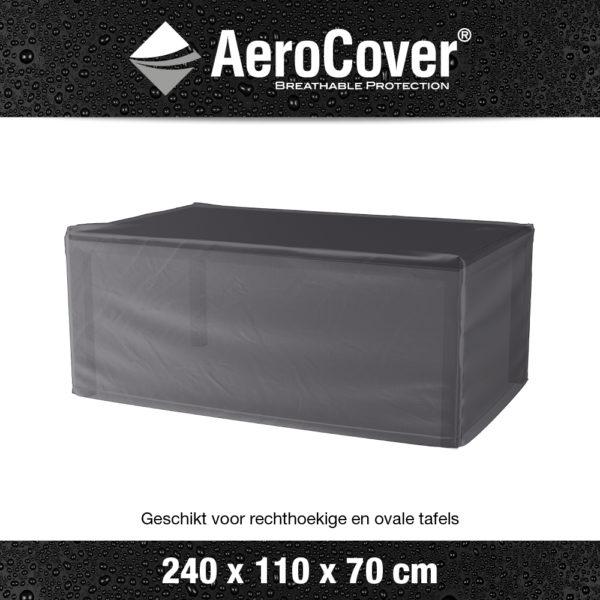 7926 Tuintafelhoes AeroCover transparant 240x110x70 cm