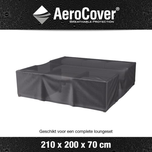 7932 Loungesethoes AeroCover transparant 210x200x70 cm