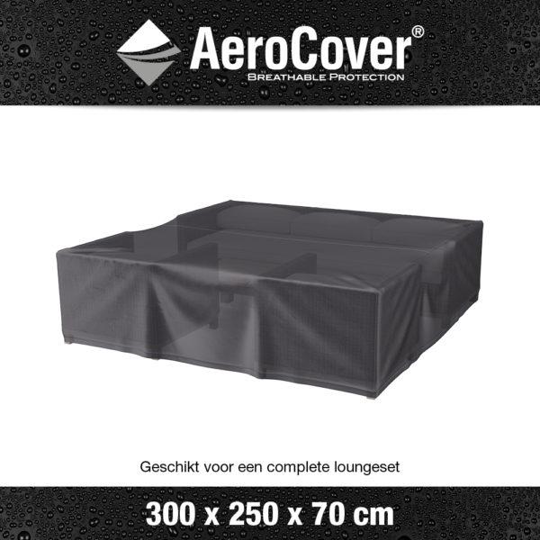 7939 Loungesethoes AeroCover transparant 300x250x70 cm