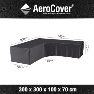 7952 Loungesethoes trapeze AeroCover 300x300x100x70 cm