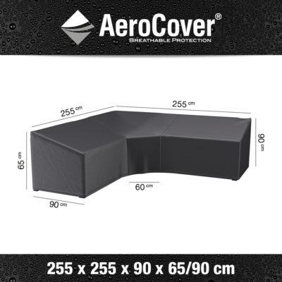 7955 Loungesethoes hoekset trapeze AeroCover 255x255x90x65/90 cm