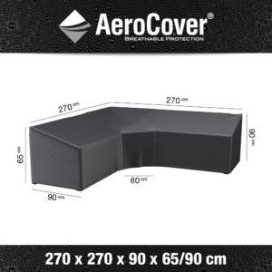 7956 Loungesethoes hoekset trapeze AeroCover 270x270x90x65/90 cm