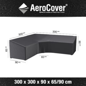 7957 Loungesethoes hoekset trapeze AeroCover 300x300x90x65/90 cm