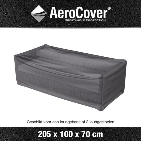 7961 Loungebankhoes AeroCover transparant 205x100x70 cm