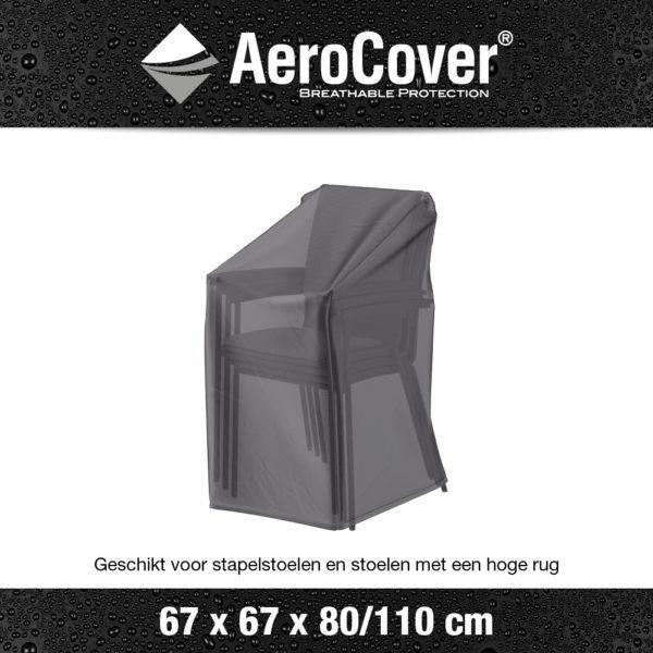 7962 Stapelstoelhoes gasveerstoelhoes AeroCover transparant 67x67x80/110 cm