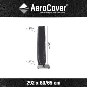 7978 Zweefparasolhoes AeroCover 292x60/65 cm