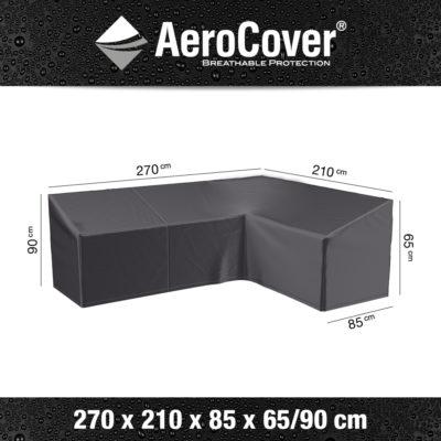 7990 Loungesethoes hoekset links AeroCover 270x210x85x65/90 cm