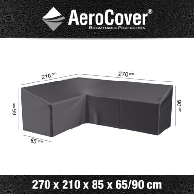 7991 Loungesethoes hoekset rechts AeroCover 270x210x85x65/90 cm