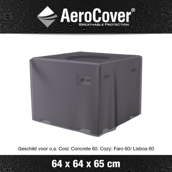 9102 Vuurtafelhoes AeroCover transparant 64x64x65 cm
