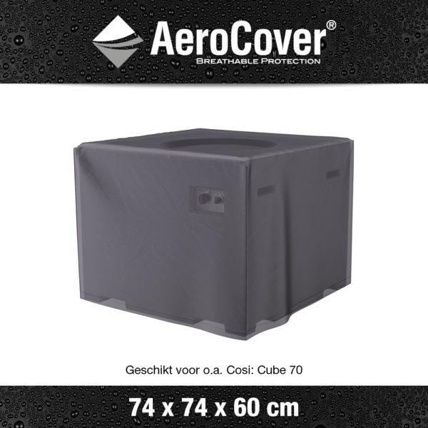 9104 Vuurtafelhoes AeroCover transparant 74x74x60 cm