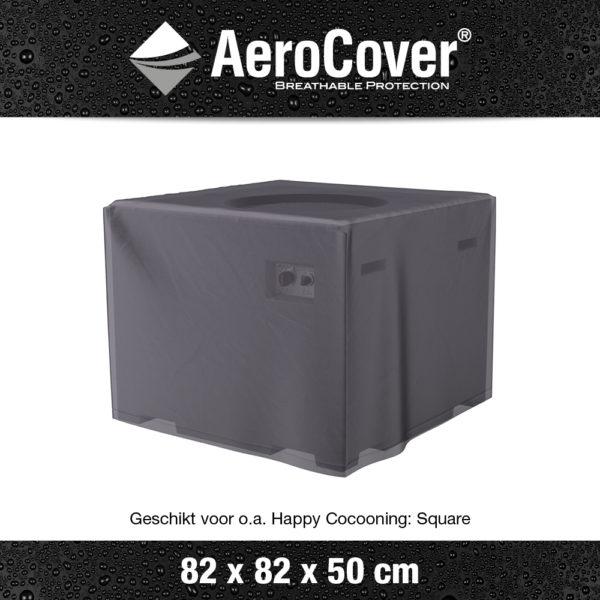9106 Vuurtafelhoes AeroCover transparant 82x82x50 cm