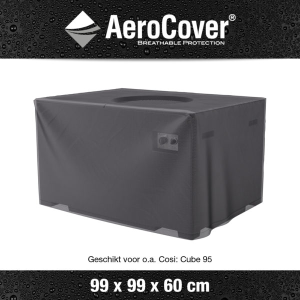 9112 Vuurtafelhoes AeroCover transparant 99x99x60 cm