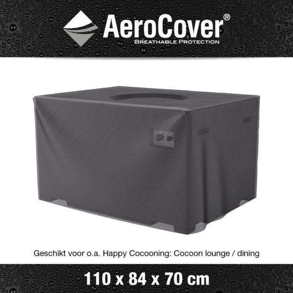 9118 Vuurtafelhoes AeroCover transparant 110x84x70 cm