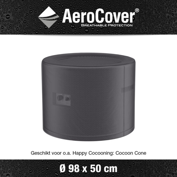 9150 Vuurtafelhoes AeroCover transparant Ø98x50 cm